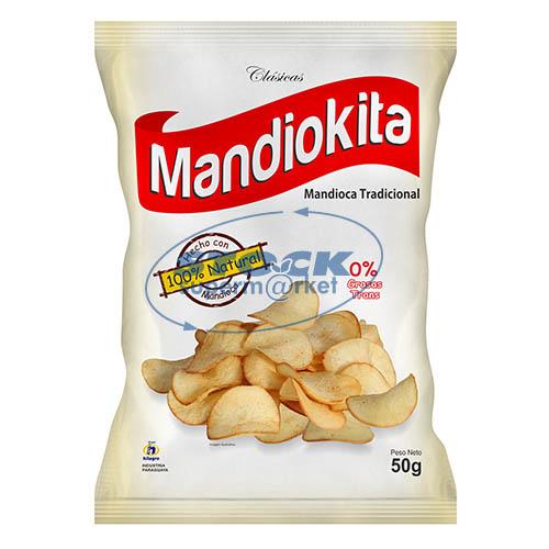 MANDIOCAS FRITAS CLASICAS MANDIOKITA 50GR