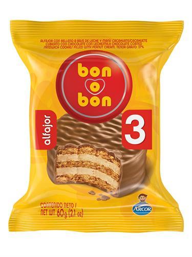 Foto ALFAJOR BON O BON TRIPLE 60 GR BON O BON de