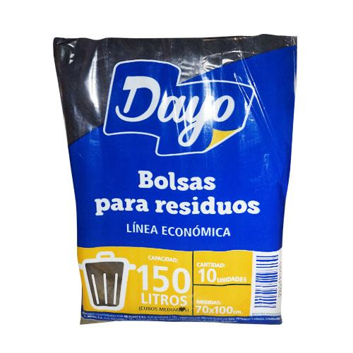 Foto BOLSA P/RESIDUOS DAYO 150LTS ECONOMICA 10UNIDADES de
