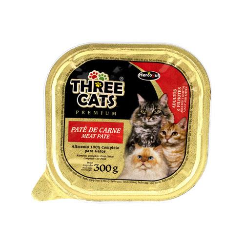 Foto ALIMENTO PARA GATO PATE DE CARNE 300GR ADULTOS THREE CATS POT de