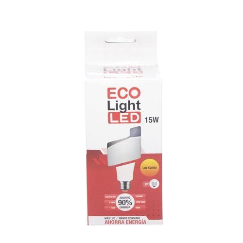 Foto FOCO LED 15W E27 LUZ CALIDA ECO LIGHT de