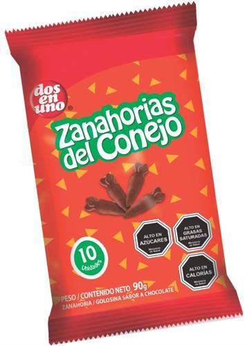 Foto ZANAHORIAS DE CHOCOLATE DOS EN UNO 10 UNIDADES de