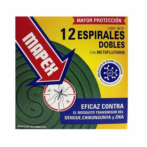 Foto ESPIRALES DOBLE CON METOFLUTHRIN MAPEX 12Unidades de