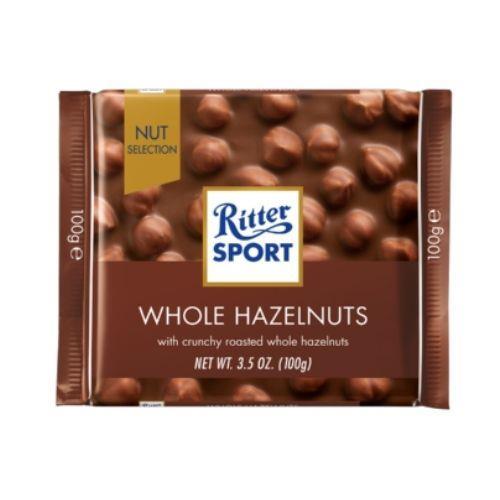 Foto CHOCOLATE WHOLE HAZELNUTS RITTER SPORT 100gr de