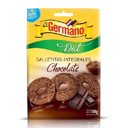Foto GALLETITA INTEGRAL DIET DE CHOCOLATE EL GERMANO 130GR de