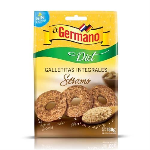 Foto GALLETITA INTEGRAL DIET CON SESAMO EL GERMANO 130GR de