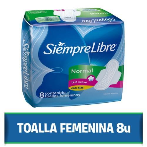 Foto TOALLITA FEMENINA NORMAL SIEMPRE LIBRE 8UNID de