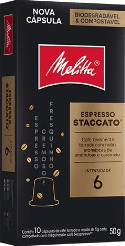 Foto CAFE ESPRESSO STACCATO EN CAPSULAS MELITTA 10UNID de