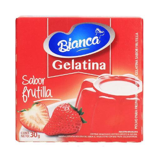 Foto GELATINA SABOR FRUTILLA BIANCA 30GR de